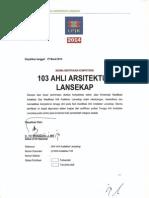 103 Ahli Arsitektur Lansekap