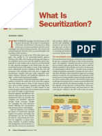 Basics of Securitisation of Assets