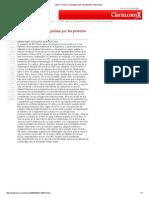 EE UU Critica a La Argentina Por Las Patentes Medicinales