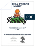 monthly parent reading night