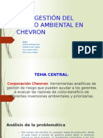 Caso Chevron Corporativo Gestión de Riesgo Ambiental - Final