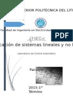 Informe Simulacion de Sistemas Lineales y No Lineales