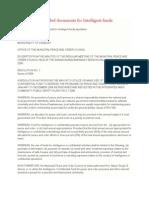 Intel Fund Sample Attachement