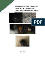 Informe Inspección de Tunel de Conduccción de Central Hidroeléctrica de Cañón Del Pato