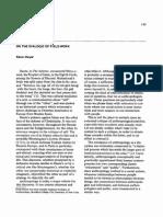 DWYER, K. on the Dialogic of Fieldwork
