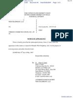 Web Telephony, LLC. v. Verizon Communications, Inc. et al - Document No. 45