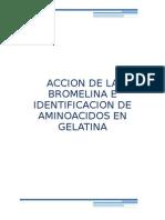 Accion de La Bromelina en Gelatina