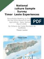 Timor TS7 Agriculture Survey Samoa