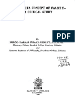 The Advaita Concept of Falsity- A Critical Study