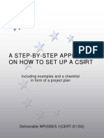 CSIRT Setting Up Guide ENISA