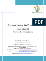 BMT-2098C-A Line Scan Camera User Manual