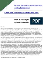What is Sri Vidya