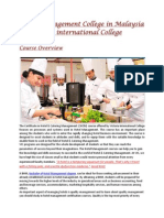 Hotel Management College in Malaysia at Victoria International College