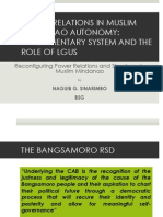 Reconfiguring Power Relations and Structures in Muslim Mindanao