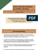 Power Relations in Muslim Mindanao