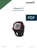 Manual Forerunner 10 OM ES