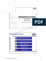 Tutorial 2 PMU Application and Testing