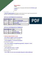 Uso Articoli Determinativi Italiano