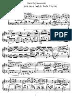 Variations on a Polish Folk Theme, Op 10