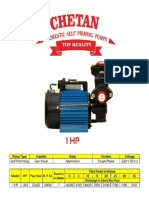 Chetan 1 Hp domestic pump