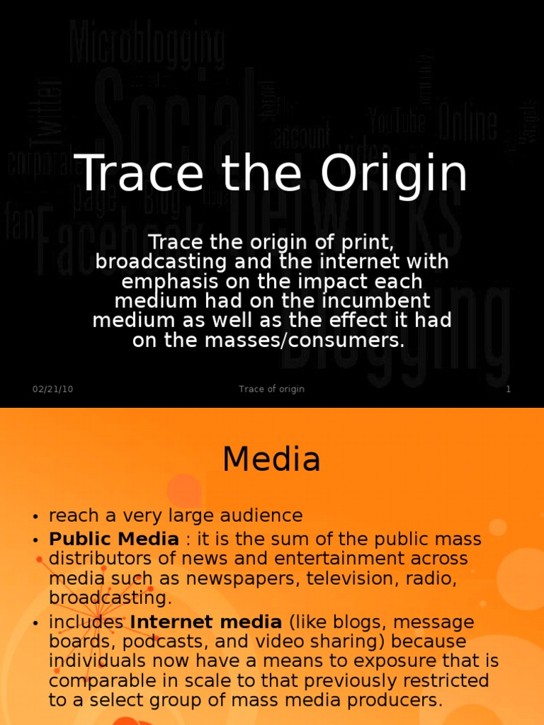 origin of mass media