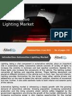 Global Automotive Lighting Market Forecast, 2014 - 2020