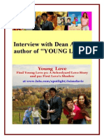 Author Interview - Dean Amory Author of YOUNG LOVE