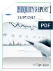 Daily Equity Report 21-07-2015