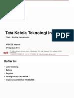 APBCDE Tata Kelola TI - 07 Agustus 2014
