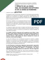 Peru Crisis Impacto Remesas Hogares Zona a