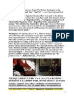 The Equalizer Vs. John Wick Film Review - Do Black Film Leads Make Money Overseas Deabte - David L. $Money Train$ Watts - FuTurXTV & Funk Gumbo Radio - 12-30-2014