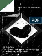 Grigore Moisil-Elemente de Logica Matematica Si de Teoria Multimilor-Editura Stiintifica (1968)