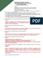 Exercicios Revisão Prova 2 2015