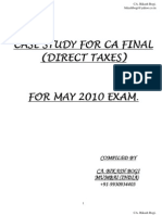 Case Study CA Final May 2010 Direct Taxes