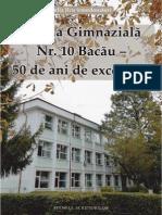 Școala Gimnazială Nr. 10 Bacău - 50 de ani de excelență