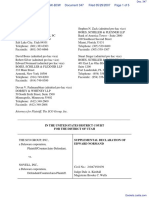 SCO Grp v. Novell Inc - Document No. 347