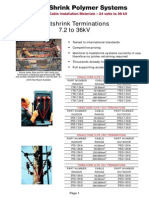 Heat Shrink Cable Joints & Cable Terminations LV HV, 6.6kV 11kV 33kV SPS Catalogue