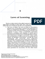 Educational Psychology Laws of Learning