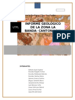 Informe Geologico La Banda