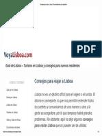 LISBOA-Consejos Para Viajar a Lisboa