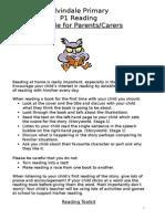 Reading - P1 Parents Booklet