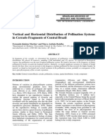 Vertical and horizontal Distribution of Pollination Systems in Cerrado Fragments of Central Brazil