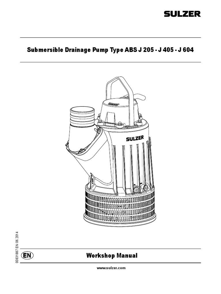 J 205 604 Workshop Manual Bearing Mechanical Pump Sulzer Engine Diagram