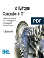 Syngas and hydrogen combustion in GT
