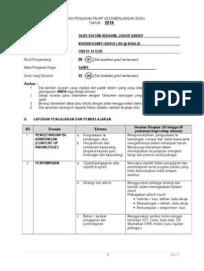 Borang Penilaian Tahap Kecemerlangan Guru Dg44 Docx
