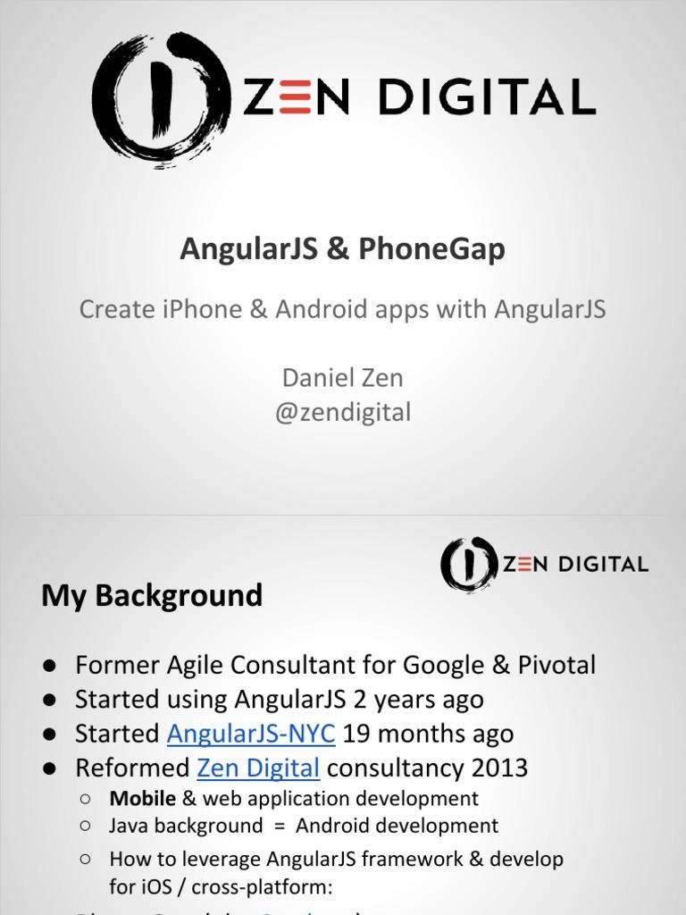AngularJS & PhoneGap   Angular Js   Mobile Software