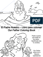 El Padre Nuestro – Libro Para Colorear - Our Father Coloring Book