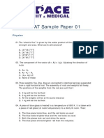 BITSAT Sample Paper 01df b