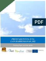 Prestakuntza Eta Lan Harremanak (III)