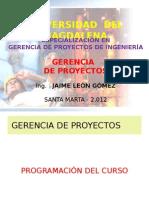 1.- Gerencia de Proyectos